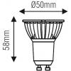 BEC SPOT LED GU10 4W 220V ALB RECE 6400K NVC