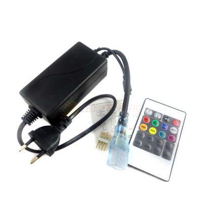 CONTROLLER CU TELECOMANDA BANDA LED RGB 230V