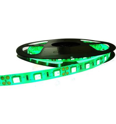BANDA LED 60 x 3528 4.8W IP65 VERDE