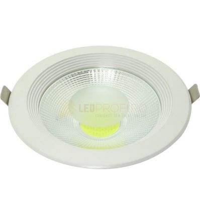 SPOT LED 20W DOWNLIGHT ROTUND ALB RECE
