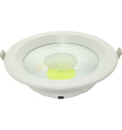 SPOT LED 15W DOWNLIGHT ROTUND ALB RECE