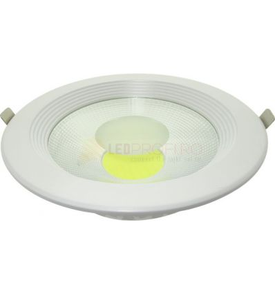 SPOT LED 30W DOWNLIGHT ROTUND ALB RECE