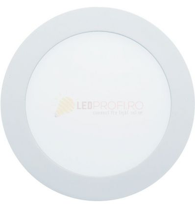 SPOT LED 12W ROTUND MAT ALB NATURAL