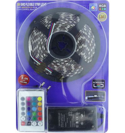 KIT BANDA LED RGB 14.4W IP65 12V - 5 METRI