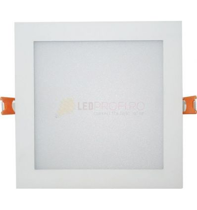 SPOT LED 24W PATRAT MAT ALB NATURAL