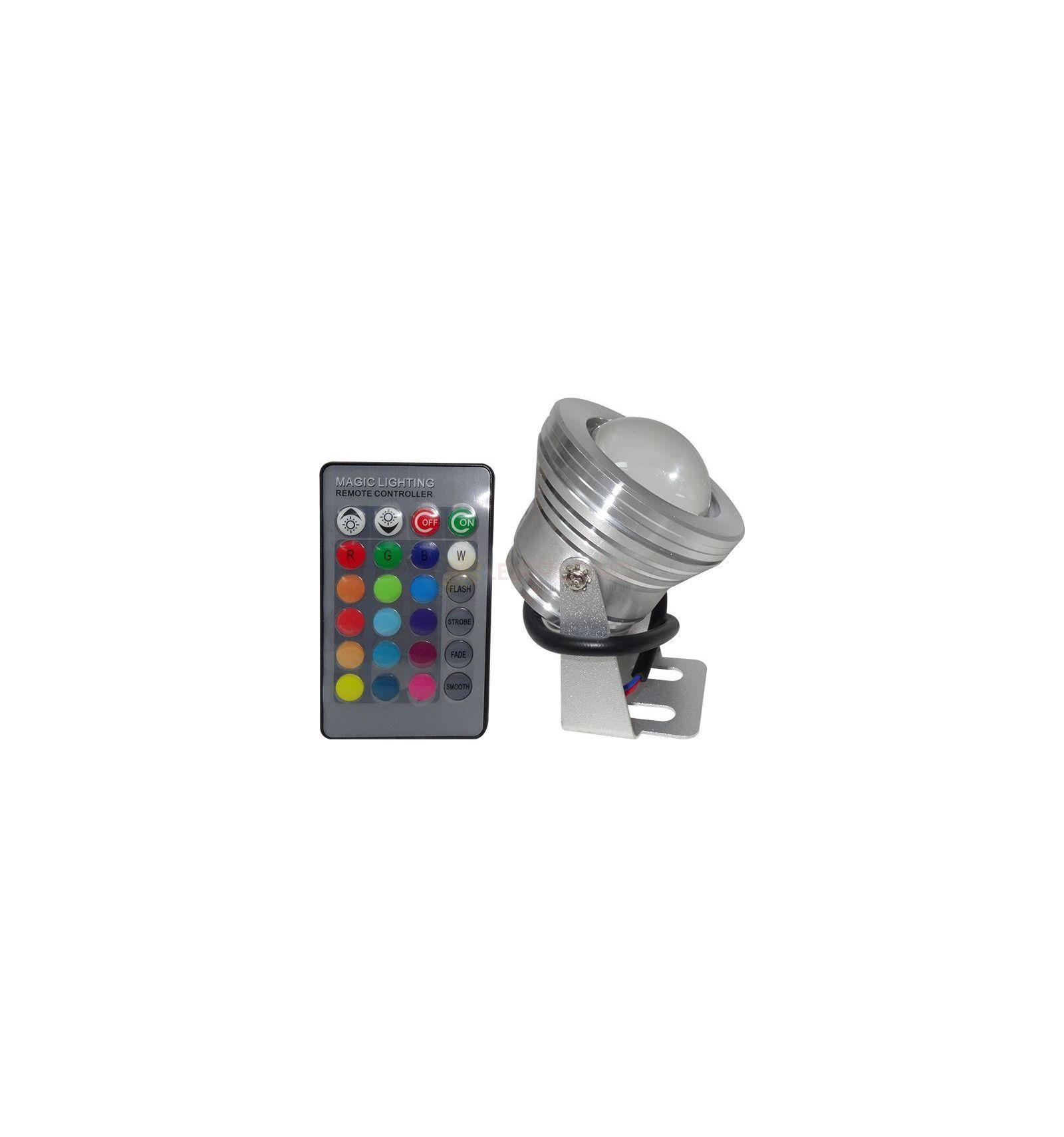 Spot led 10w 12v ip65 rgb cu telecomanda - Spot led ip65 12v ...