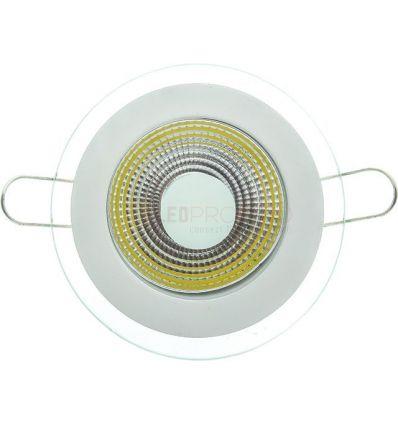 SPOT LED 5W ROTUND ALB RECE +GEAM