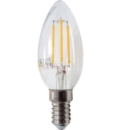 BEC LED FILAMENT E14 4W ALB CALD C35