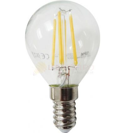 BEC LED FILAMENT E14 4W ALB CALD G45
