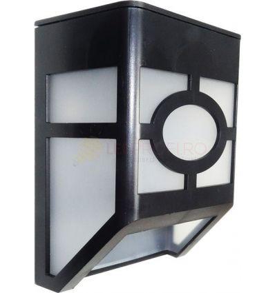KIT LAMPA SOLARA DE PERETE 0.55W LED ALB RECE