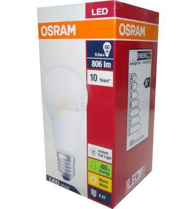 BECURI LED OSRAM 9.5W E27 PARA ALB CALD