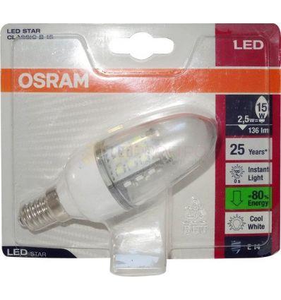 BEC LED OSRAM 2.5W E14 LUMARE GLOB CLAR