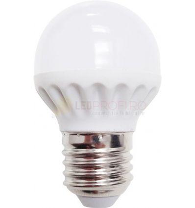 BEC LED 3W SFERIC E27 G45 ALB CALD ODO