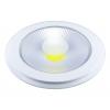 SPOT LED 10W ROTUND ALB RECE +GEAM