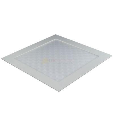 SPOT LED 18W 3D PATRAT ALB RECE