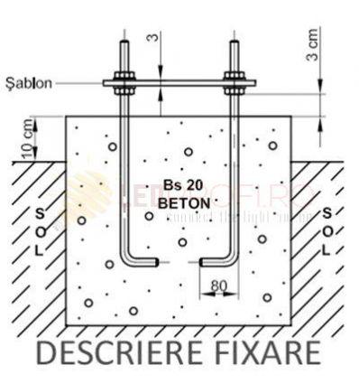 SET 4 PREZOANE M12+TABLITA PT STALP 3-6 M