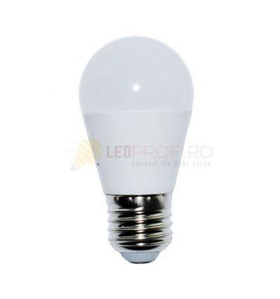BEC LED E27/8W/2700K ALB CALD SFERIC