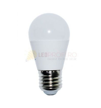 BEC LED E27/8W/6400K ALB RECE SFERIC