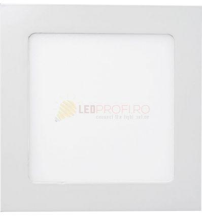 SPOT LED SLIM PATRAT/9W/6400K ALB RECE