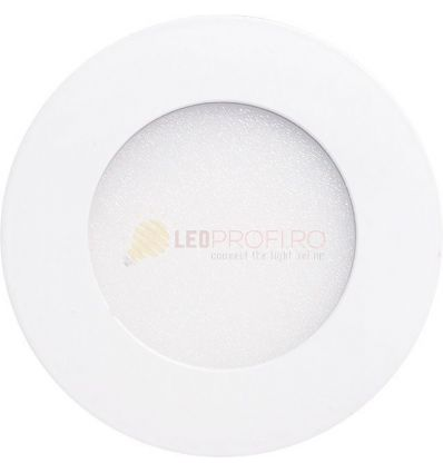 SPOT LED SLIM ROTUND/6W/6400K ALB RECE