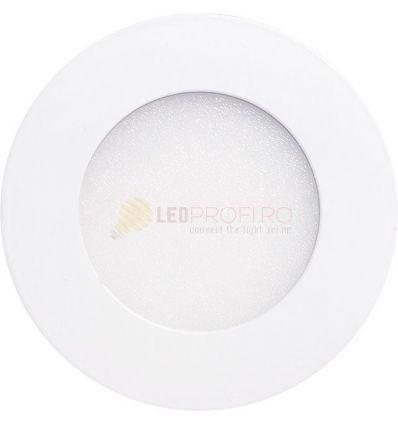 SPOT LED SLIM ROTUND/6W/6400K ALB RECE