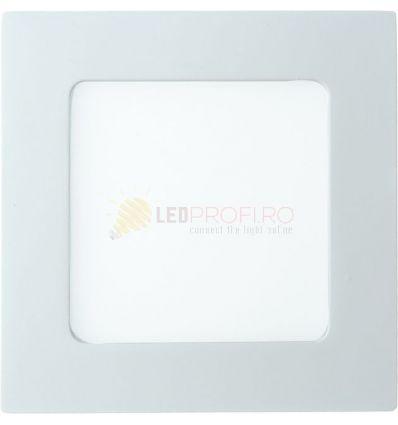 SPOT LED SLIM PATRAT/6W/6400K ALB RECE