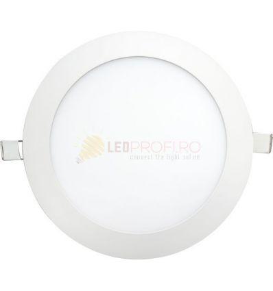 SPOT LED SLIM ROTUND/15W/6400K ALB RECE