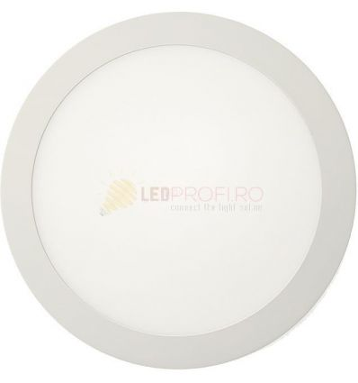 APLICA LED 18 ROTUNDA 6400K-ALB RECE