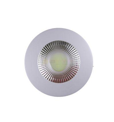 SPOT COB LED 10W ROTUND ALB RECE