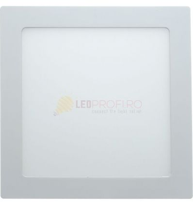 SPOT LED SLIM PATRAT/24W/6400K ALB RECE