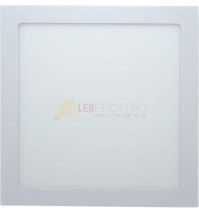 SPOT LED SLIM PATRAT 18W/6400K ALB RECE