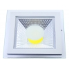 SPOT LED 5W PATRAT ALB CALD +GEAM