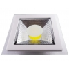 SPOT LED 10W PATRAT ALB RECE +GEAM