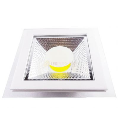 SPOT LED 10W PATRAT ALB CALD +GEAM