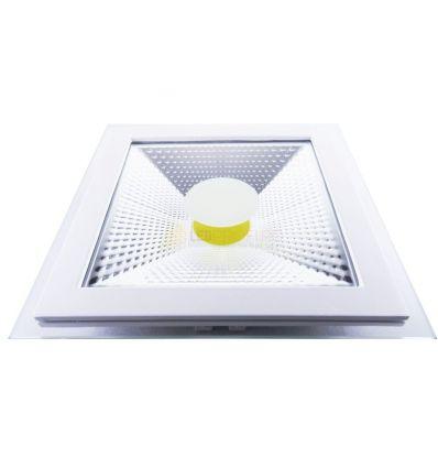 SPOT LED 15W PATRAT ALB RECE +GEAM