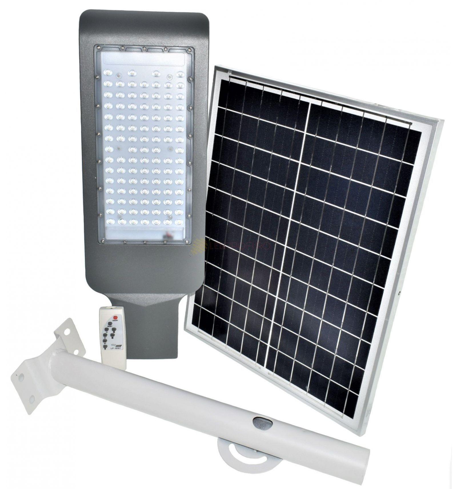 Lampa Stradala Led Ip65 100w Smd Cu Panou Solar Ledprofi Ro